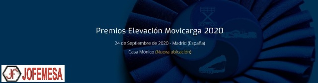 Jofemesa Sponsor Oro En los V Premios de Elevacion Movicarga 2020 Madrid